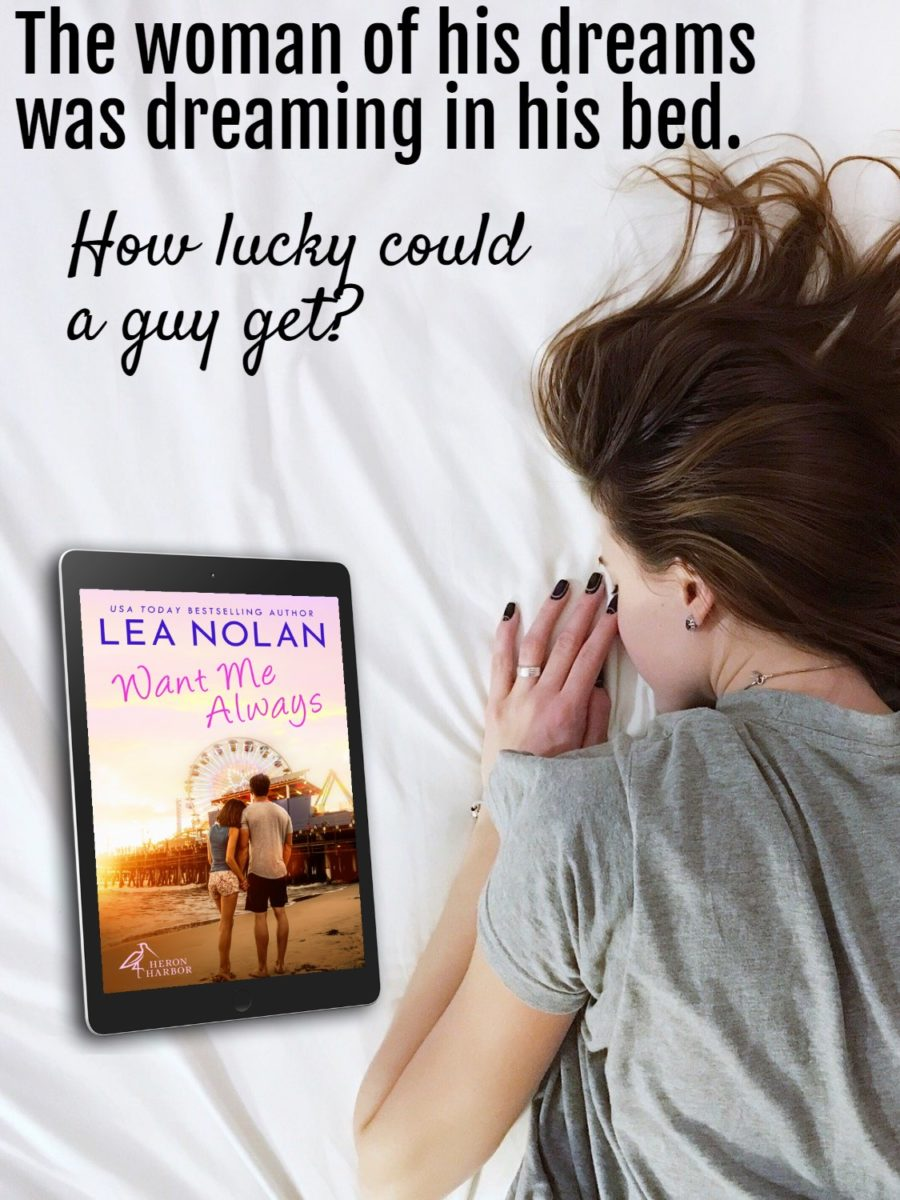 Teaser from WANT ME ALWAYS, the first book in the adult contemporary romance series, Heron Harbor, by USA Today bestselling author, Lea Nolan