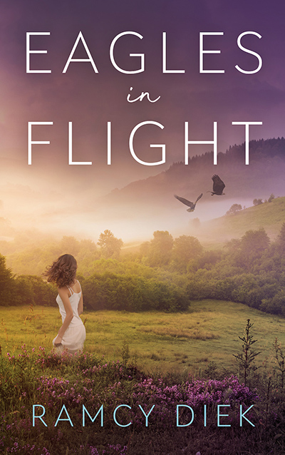 Cover for EAGLES IN FLIGHT, a stand-alone adult contemporary romance by Ramcy Diek, releasing August 25, 2020