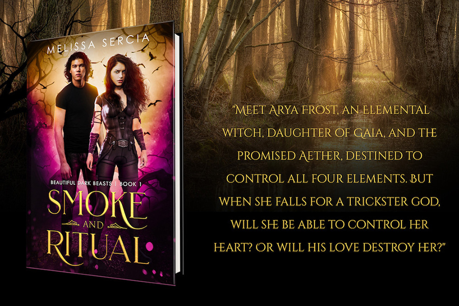 Teaser from SMOKE AND RITUAL, the first book in the adult paranormal romance series, Beautiful Dark Beasts, by Melissa Sercia