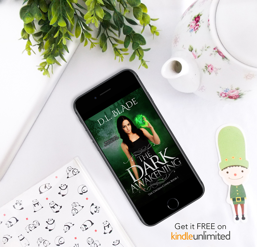 Read THE DARK AWAKENING, the first book in the young adult paranormal romance series, Chosen Coven, by D.L. Blade on KindleUnlimited