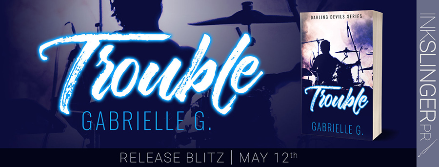 Today is release day for TROUBLE, the second book in the adult contemporary rockstar romance series, Darling Devils, by Gabrielle G.
