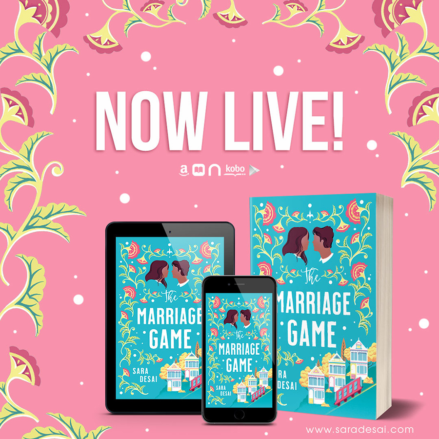 Now Live! THE MARRIAGE GAME, a stand-alone adult contemporary romance, by Sara Desai, One of Oprah Magazine's Most Anticipated Romances of 2020