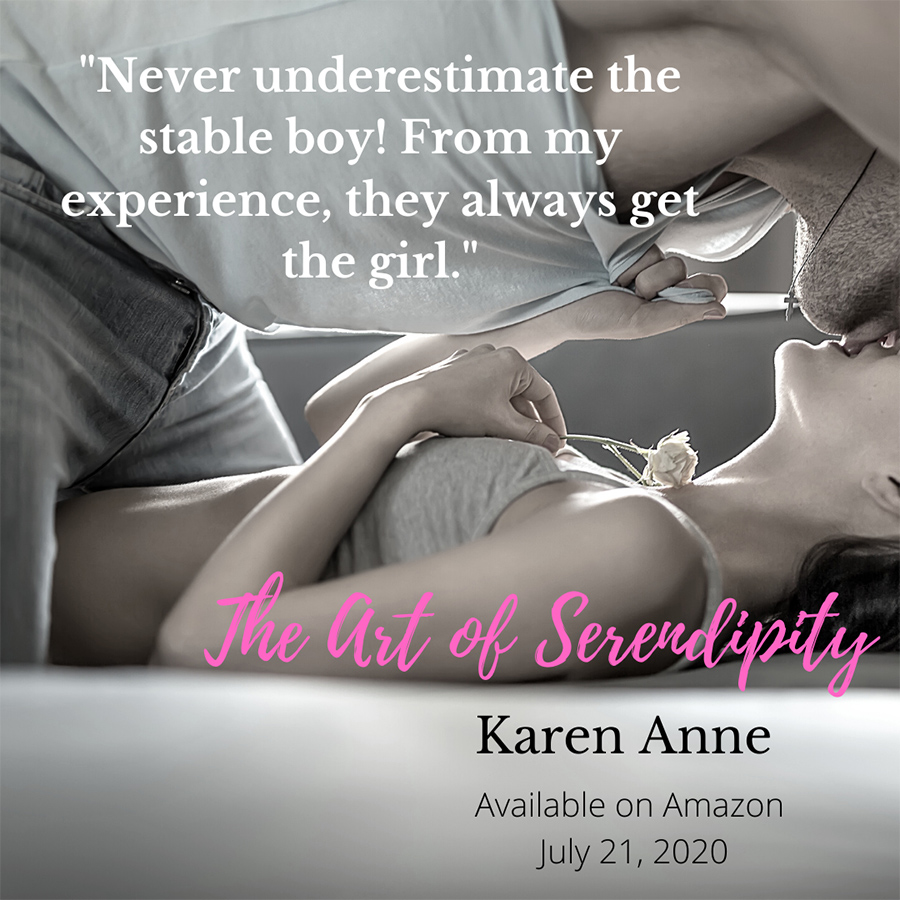 THE ART OF SERENDIPITY, a standalone adult contemporary romance, by Karen Anne