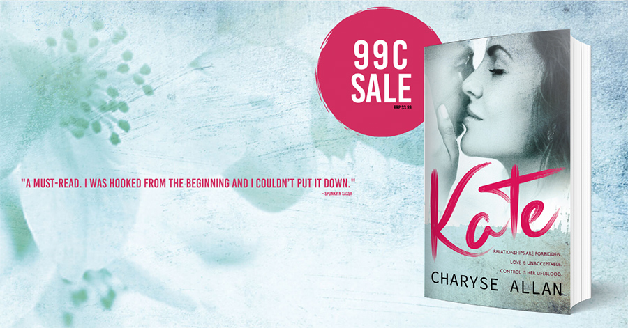 KATE, a standalone new adult contemporary romance, by Charyse Allan, is on sale for just $0.99 for a limited time