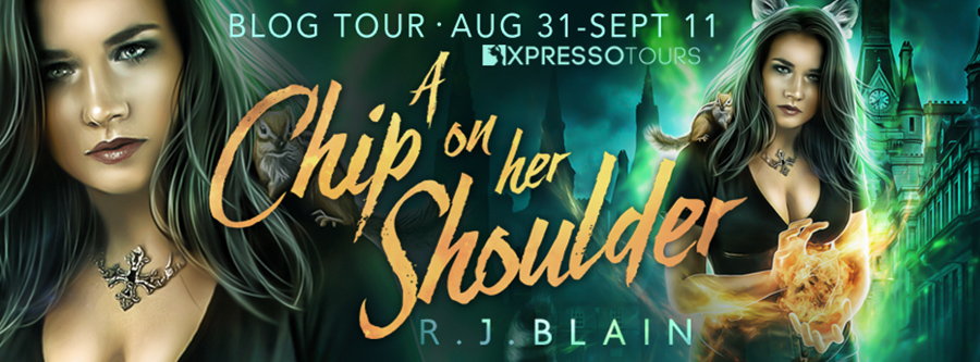 Welcome to the blog tour for A CHIP ON HER SHOULDER, the eleventh book in the adult paranormal romantic comedy series, Magical Romantic Comedies, by USA Today bestselling author, R.J. Blain