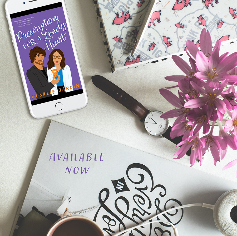 PRESCRIPTION FOR A LONELY HEART, the first book in her adult romantic comedy series, Love in Glenco City, by Rosalie Jardin