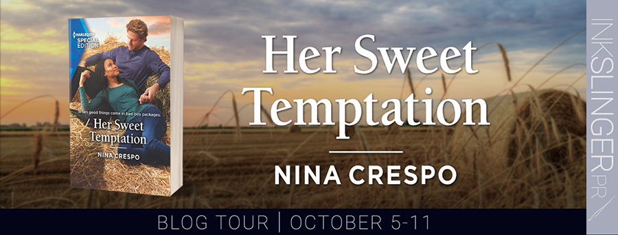 Welcome to the blog tour for HER SWEET TEMPTATION, the second book in the adult contemporary romance series, Tillbridge Stables, by Nina Crespo