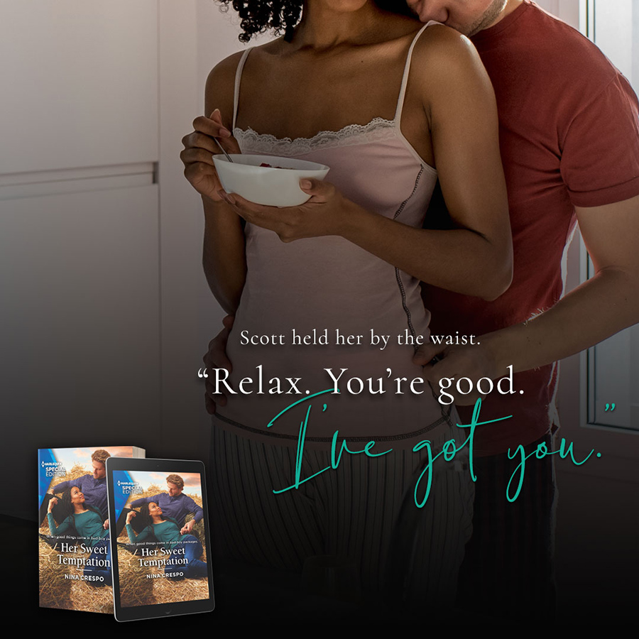HER SWEET TEMPTATION, the second book in the adult contemporary romance series, Tillbridge Stables, by Nina Crespo