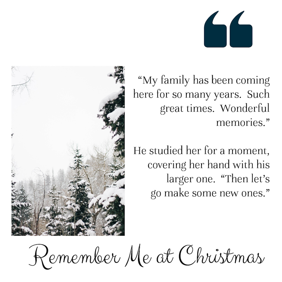 REMEMBER ME AT CHRISTMAS, the third book in the adult contemporary holiday romance series, Spirit of Christmas, by Debra Curwen