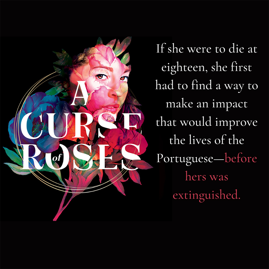 A CURSE OF ROSES, a young adult LGBTQ+ own voices fantasy, by Diana Pinguicha
