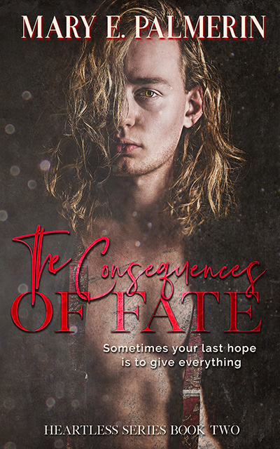 THE CONSEQUENCES OF FATE, the second book in the young adult contemporary romance series, Heartless, by Mary E. Palmerin