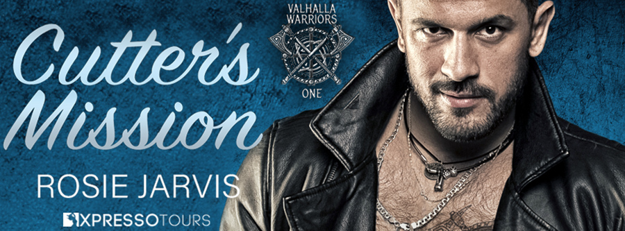 Author Rosie Jarvis is revealing the cover to CUTTER'S MISSION, the first book in her adult contemporary romance series, Valhalla Warriors, releasing February 9, 2021