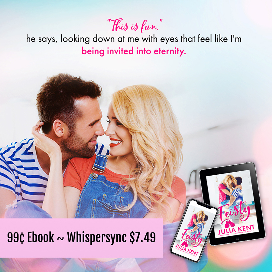 Read FEISTY, the third book in the adult comedy romance series, Do-Over, by New York Times and USA Today bestselling author, Julia Kent for just $0.99