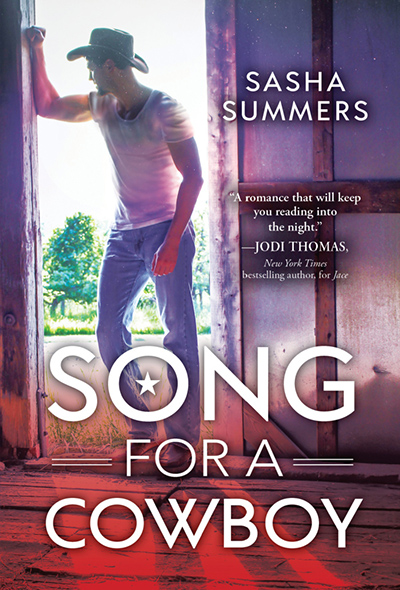 SONG FOR A COWBOY, the second book in the adult contemporary romance series, Kings of Country, by Sasha Summers