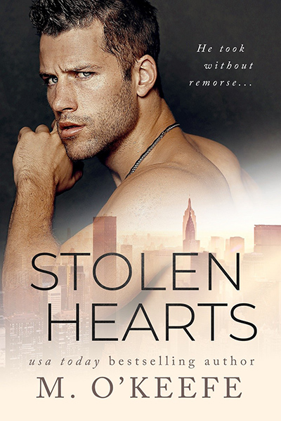 STOLEN HEARTS, the first book in the adult contemporary romance series, Hearts, by USA Today bestselling author, Molly O'Keefe