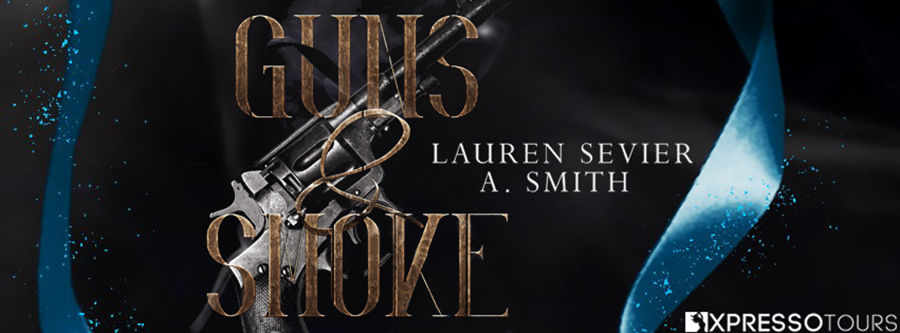 Authors A. Smith and Lauren Sevier are revealing the cover to GUNS & SMOKE, the first book in their adult dystopian romantic western series, The Fool's Adventure, releasing July 10, 2021