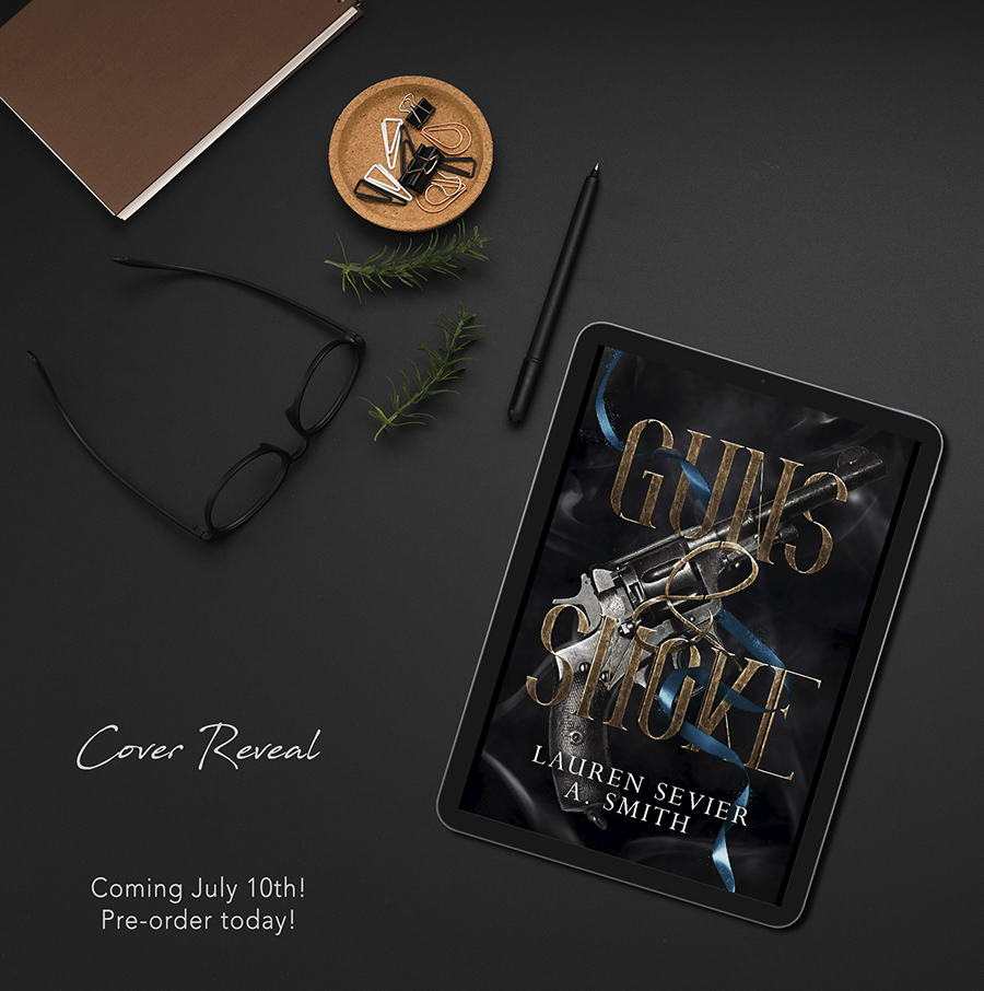 Preorder GUNS & SMOKE, the first book in the adult dystopian romantic western series, The Fool's Adventure, by A. Smith and Lauren Sevier now!