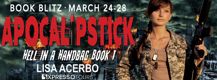 Welcome to the book blitz for APOCALIPSTICK, the first book in the young adult/new post-apocalyptic adventure, Hell in a Handbag,, by Lisa Acerbo