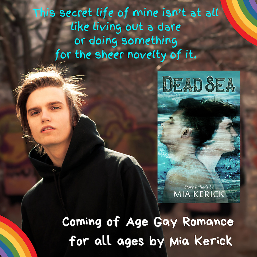 Teaser from DEAD SEA, a stand-alone young adult coming of age LGBTQ+ contemporary romance, by Mia Kerick