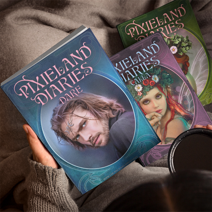 The Pixieland Diaries Series, a young adult fantasy paranormal romance trio by Christina Bauer
