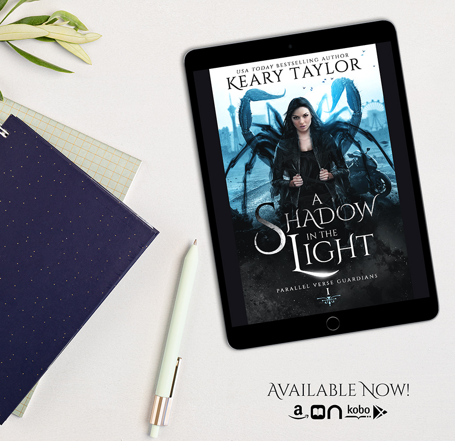 A SHADOW IN THE LIGHT, the first book in the adult paranormal romance series, Parallel Verse Guardians, by USA Today bestselling author, Keary Taylor Is Out Now!