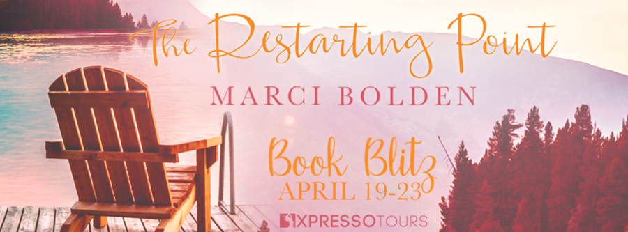 Welcome to the book blitz for THE RESTARTING POINT, the first book in the women's fiction series, Chammont Point, by Marci Bolden, releasing April 27, 2021.