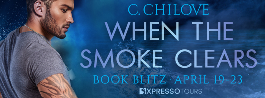 Welcome to the book blitz for WHEN THE SMOKE CLEARS, a standalone adult romantic suspense by C. Chilove