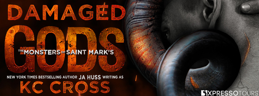 New York Times bestselling author, J.A. Huss writing as K.C. Cross, is revealing the cover to DAMAGED GODS, the first book in the adult scifi alien romance series, The Monsters of St. Mark's, releasing July 27, 2021