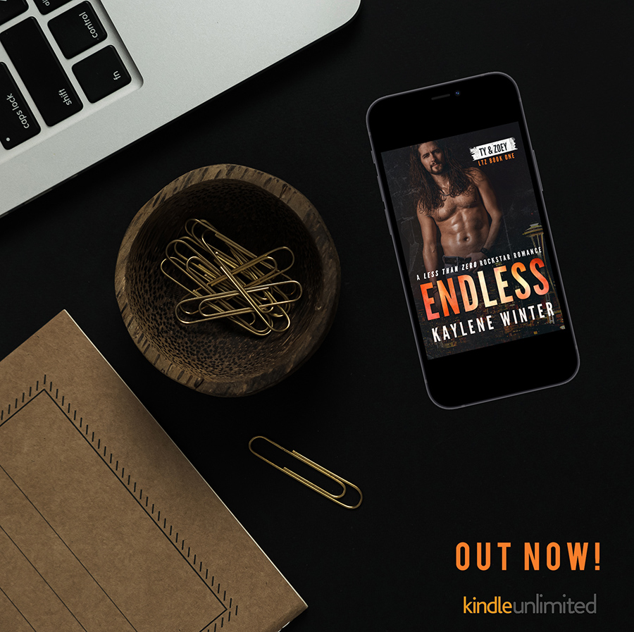 Read ENDLESS, the first book in the adult contemporary rockstar romance series, Less Than Zero, by Kaylene Winter now