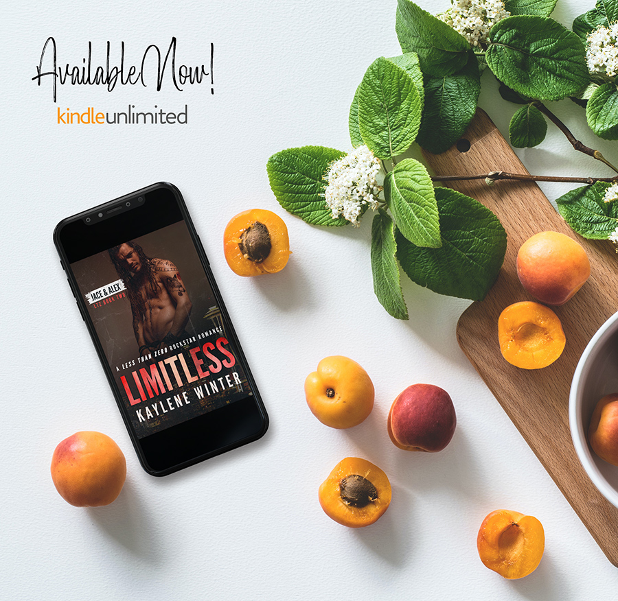 LIMITLESS, the second book in the adult contemporary rockstar romance series, Less Than Zero, by Kaylene Winter is available now on Kindle Unlimited