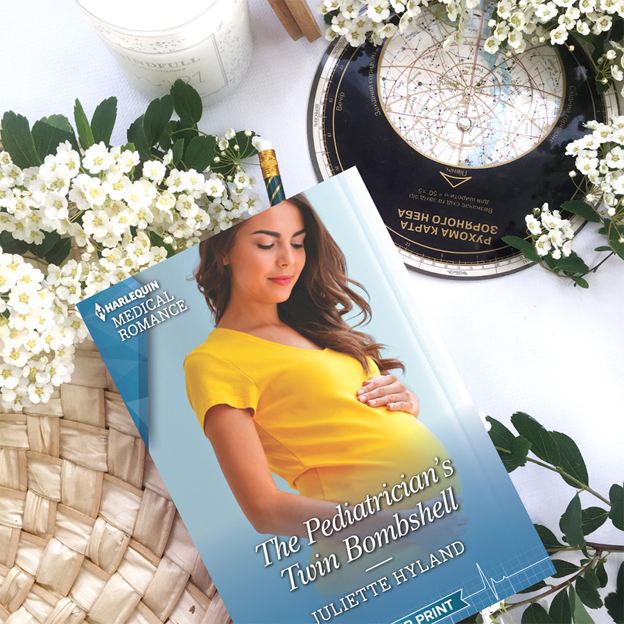 THE PEDIATRICIAN'S TWIN BOMBSHELL, the latest book in the adult contemporary romance series, Harlequin Medical Romances, by Juliette Hyland is Now Available