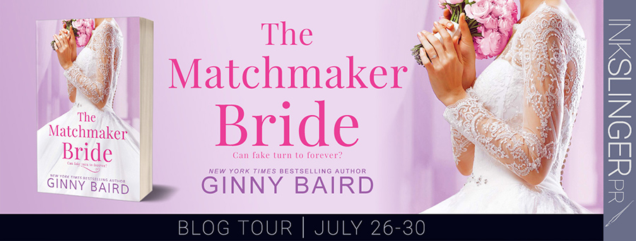 Welcome to the blog tour for THE MATCHMAKER BRIDE, the second stand-alone book in the adult contemporary romance series, Blue Hill Brides, by New York Times and USA Today bestselling author, Ginny Baird