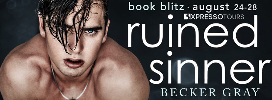 Welcome to the book blitz for RUINED SINNER, the fourth book in the new adult contemporary romance series, Hellfire Club, by Becker Gray
