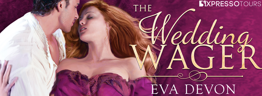 Entangled Amara and USA Today bestselling author Eva Devon are revealing the cover to THE WEDDING WAGER, a standalone adult historical romance, releasing September 27, 2021