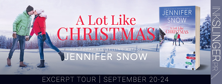 Welcome to the excerpt reveal tour for A LOT LIKE CHRISTMAS, the second book in the adult contemporary romance series, Blue Moon Bay, by USA Today bestselling author Jennifer Snow, releasing September 28, 2021