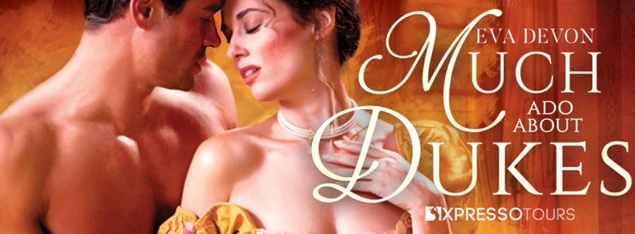 Entangled Amara and USA Today bestselling author Eva Devon are revealing the cover to MUCH ADO ABOUT DUKES, the second book in the adult historical romance series, Never a Wallflower, releasing January 25, 2022