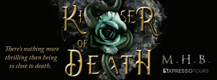 Author M.H.B. is revealing the cover to KISSER OF DEATH, a standalone adult dark contemporary romance, releasing October 21, 2021
