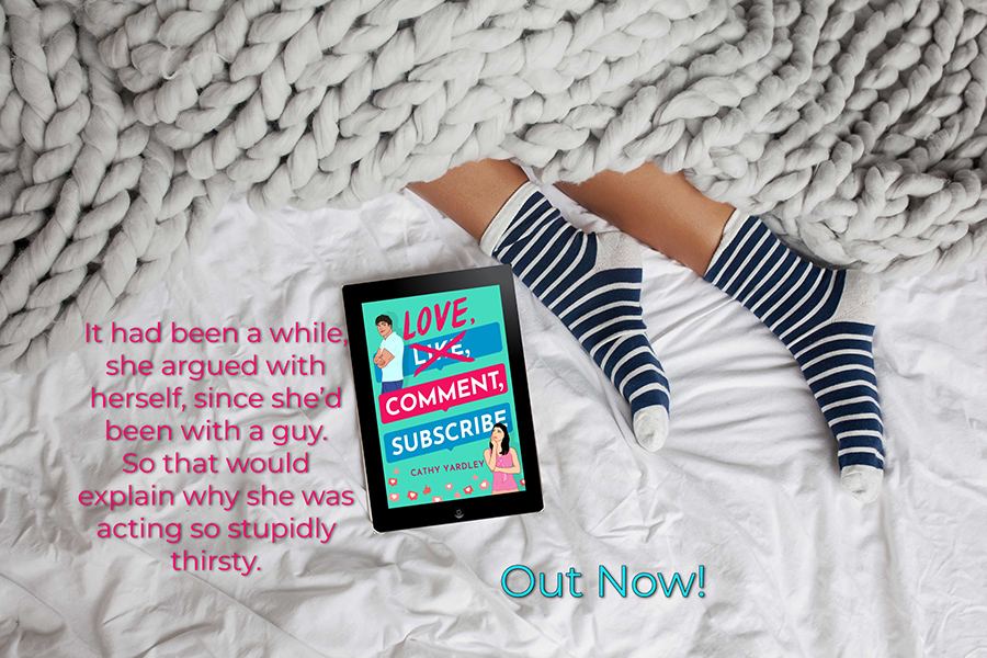 LOVE, COMMENT, SUBSCRIBE, the first book in the adult contemporary romantic comedy series, Ponto Beach Reunion, by Cathy Yardley is out now!