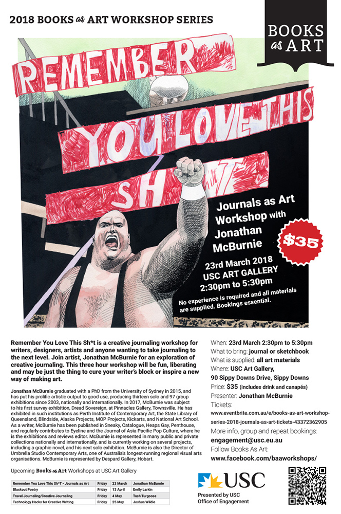 You love this S*%$T, art workshop by Jonathan McBurnie