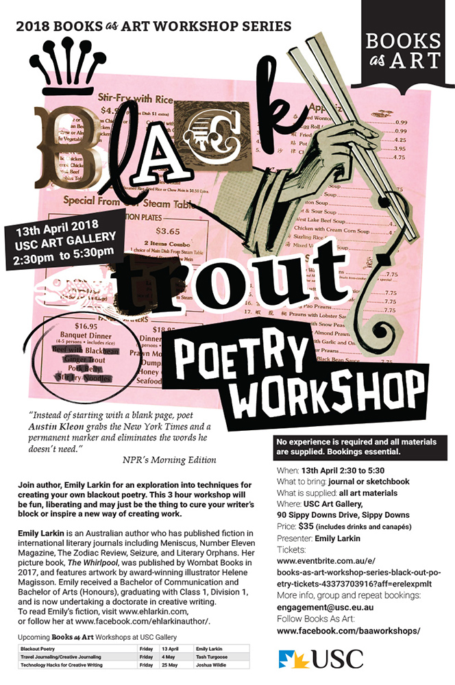 Blackout Poetry Workshop