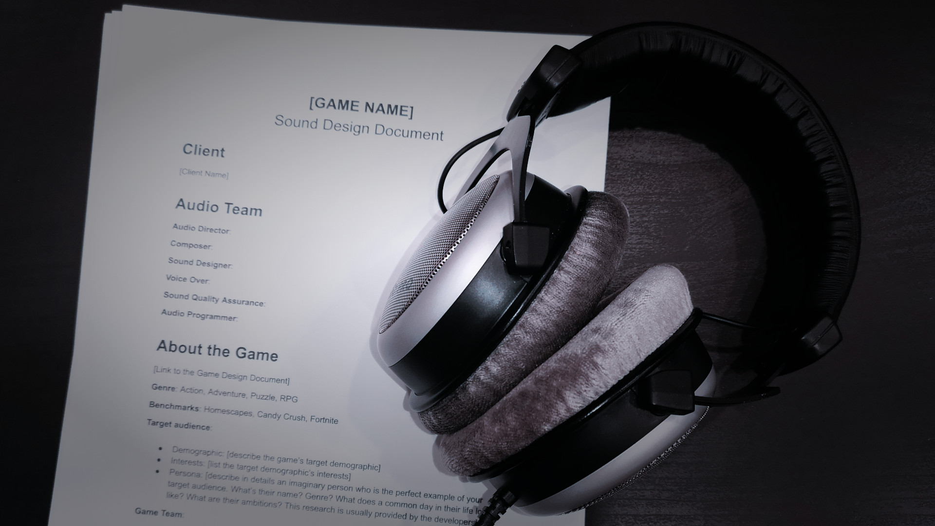 Documentation and Organization in Game Audio (with templates!)