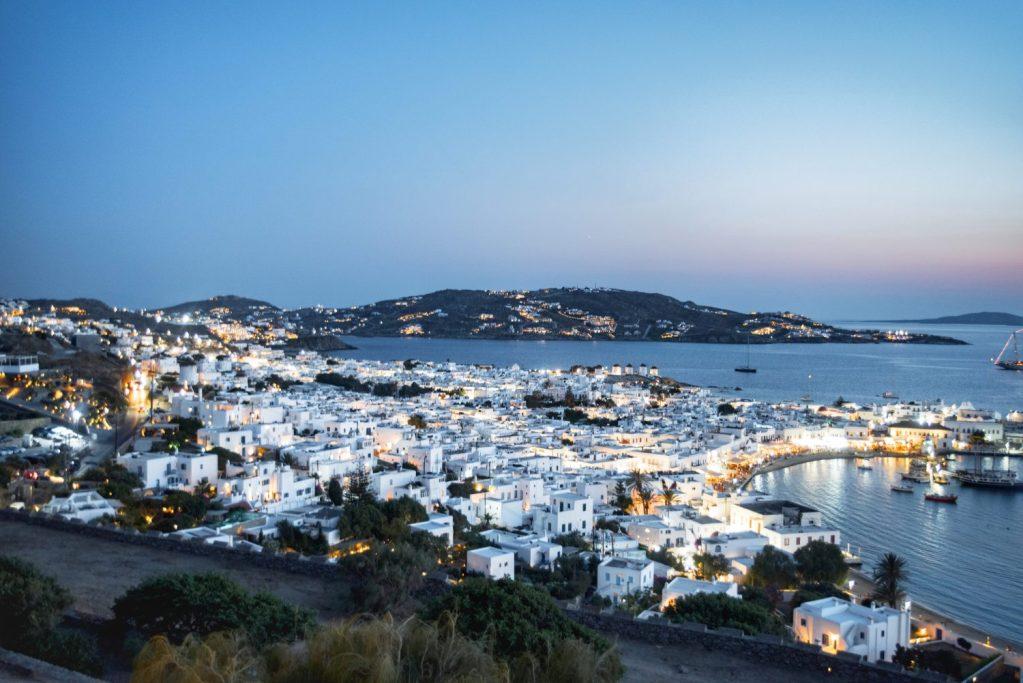 Grèce   Mykonos   180 degrés sunset Bar   Night