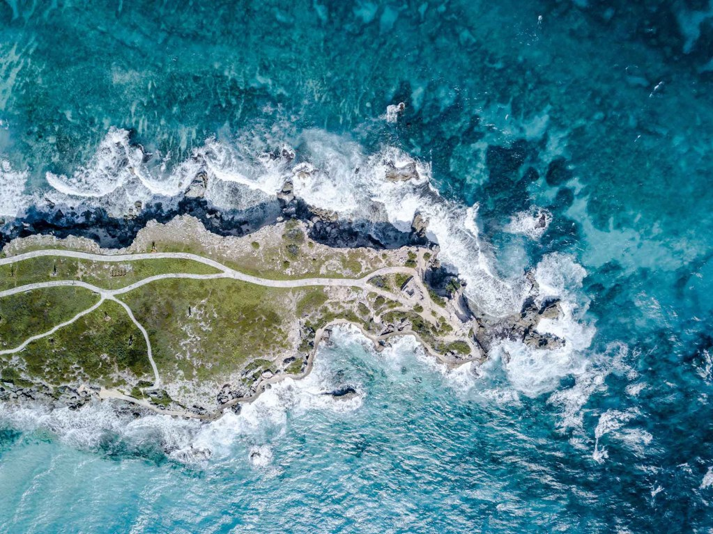 Isla Mujeres - Icaco Island by drone