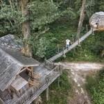 Coucoo Cabanes Grands Lacs | Cabane SPA Château vu du drone
