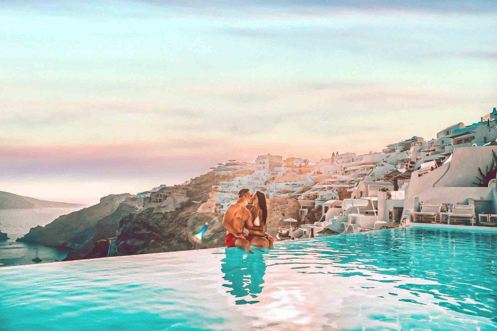 Katikies Santorini - Piscine avec vue mer - amour et love