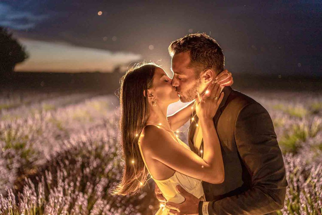 Valensole - Champs de Lavande By Night - Photos couple