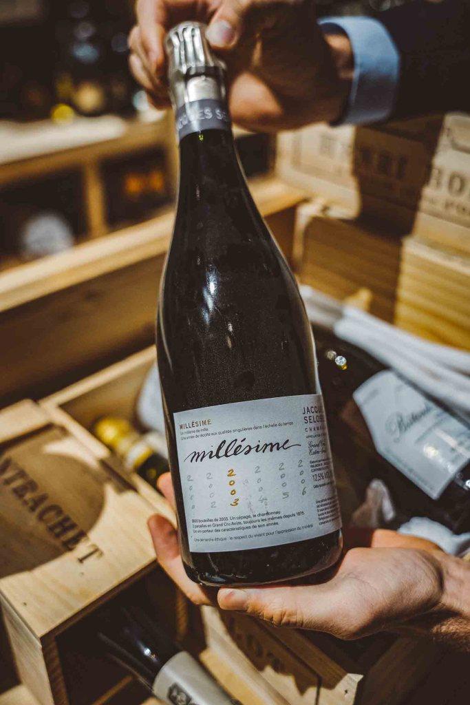 Cave à vins - Bouteilles au domaine de Verchant