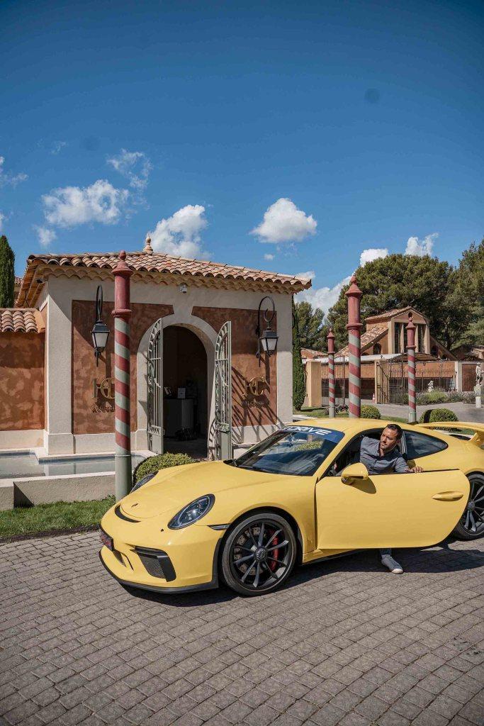 Arrivée en Porsche GT3