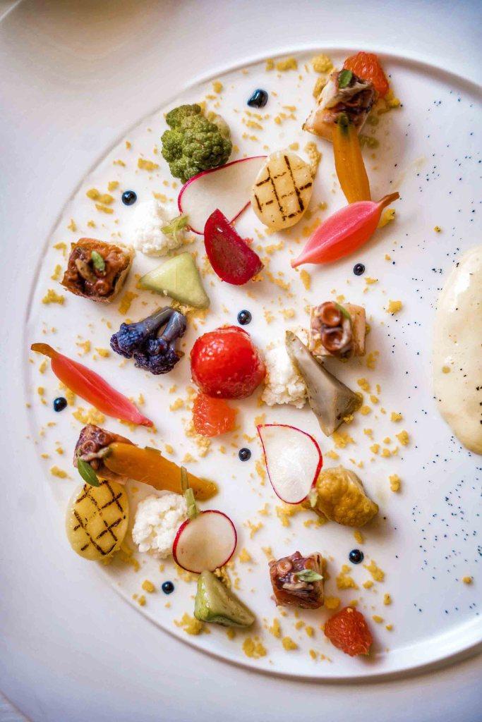 Plat restaurant 3 étoiles Michelin par Christophe Bacquié