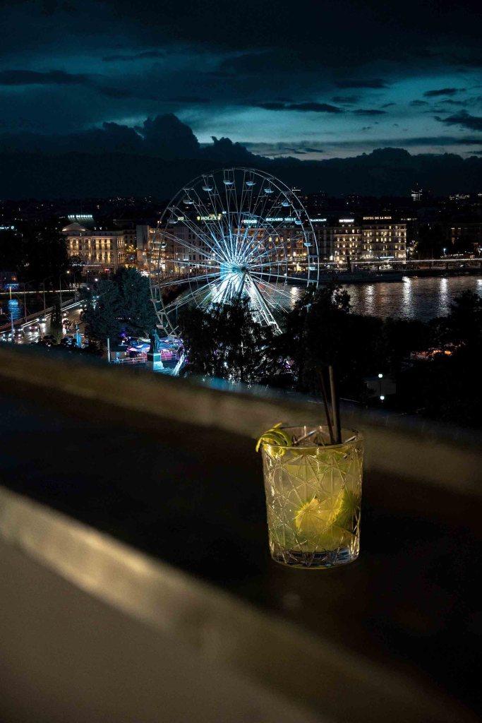 Vue depuis le rooftop du Métropole de Genève